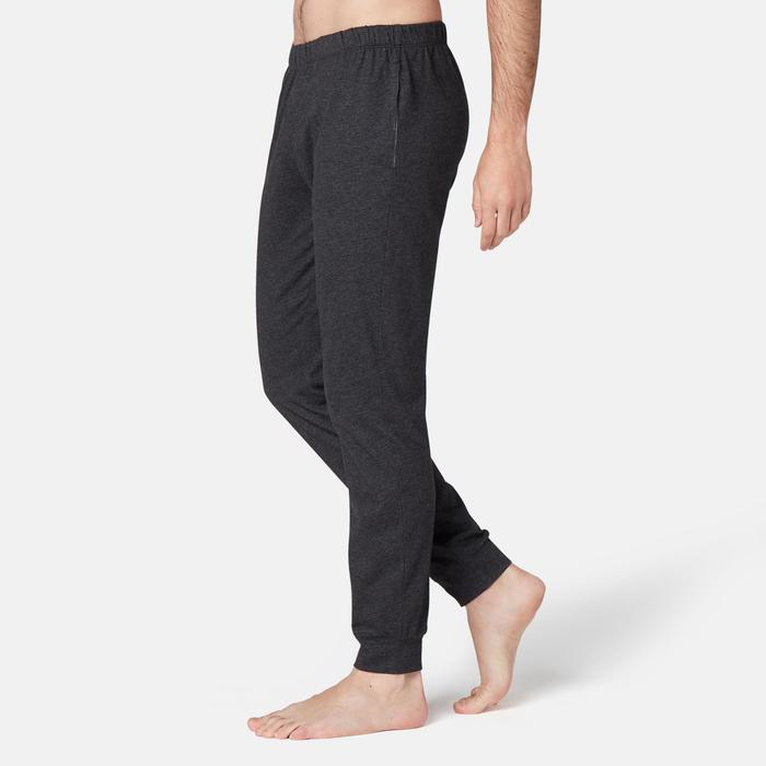 Pantalon jogging Fitness Bas resserré Gris
