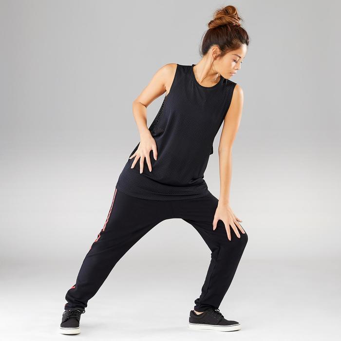 Top Street Dance Damen extrem atmungsaktiv schwarz