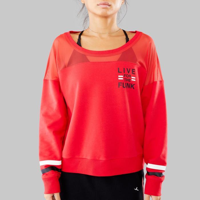 Sweat-shirt rouge de danses urbaines femme