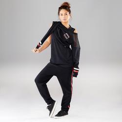 Sweater voor streetdance dames zwart