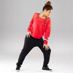 Sweater voor streetdance dames rood