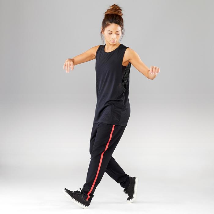 Pantalon de danses urbaines noir à bandes femme