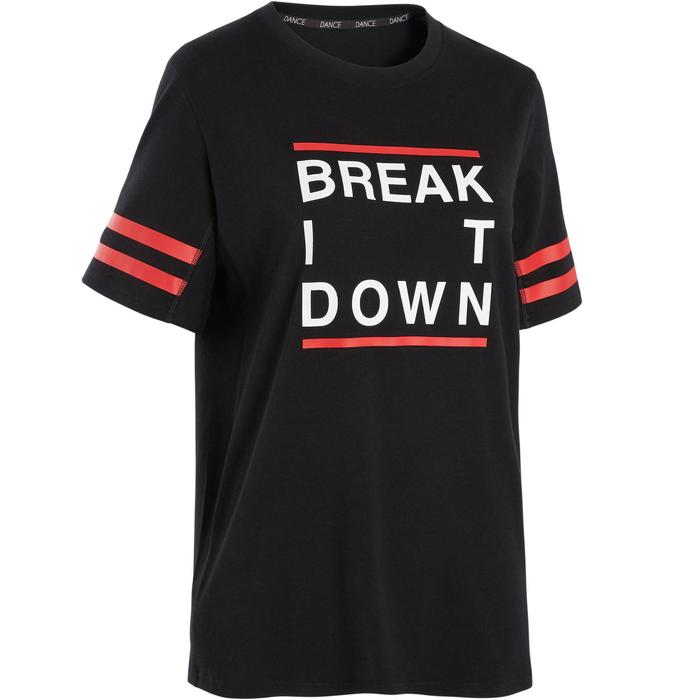 T-shirt voor streetdance uniseks zwart