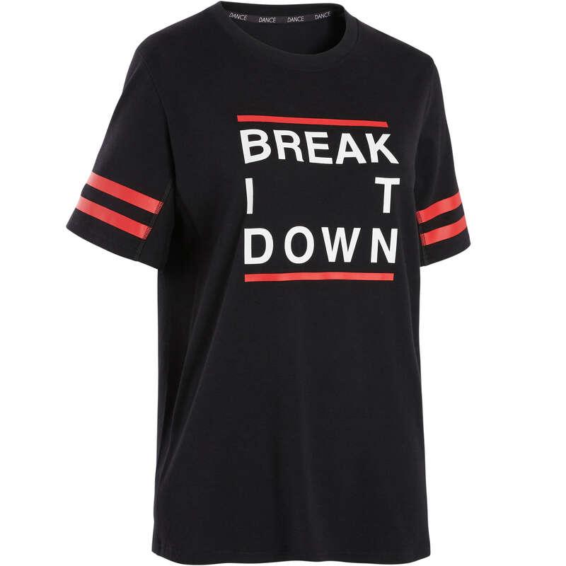 URBAN DANCE, HIP HOP MEN, WOMEN APPAREL Street Dance and Urban Dance - Urban Dance T-Shirt - Black DOMYOS - Sports