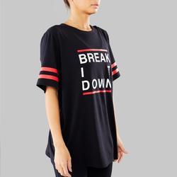 T-shirt voor streetdance zwart uniseks
