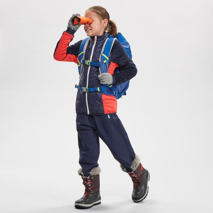 Polaire hybride de randonnée neige SH500 X-WARM fille 7-15 ans bleue