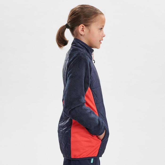 Hybride wandelfleece voor de sneeuw meisjes SH500 X-Warm 7-15 jaar blauw
