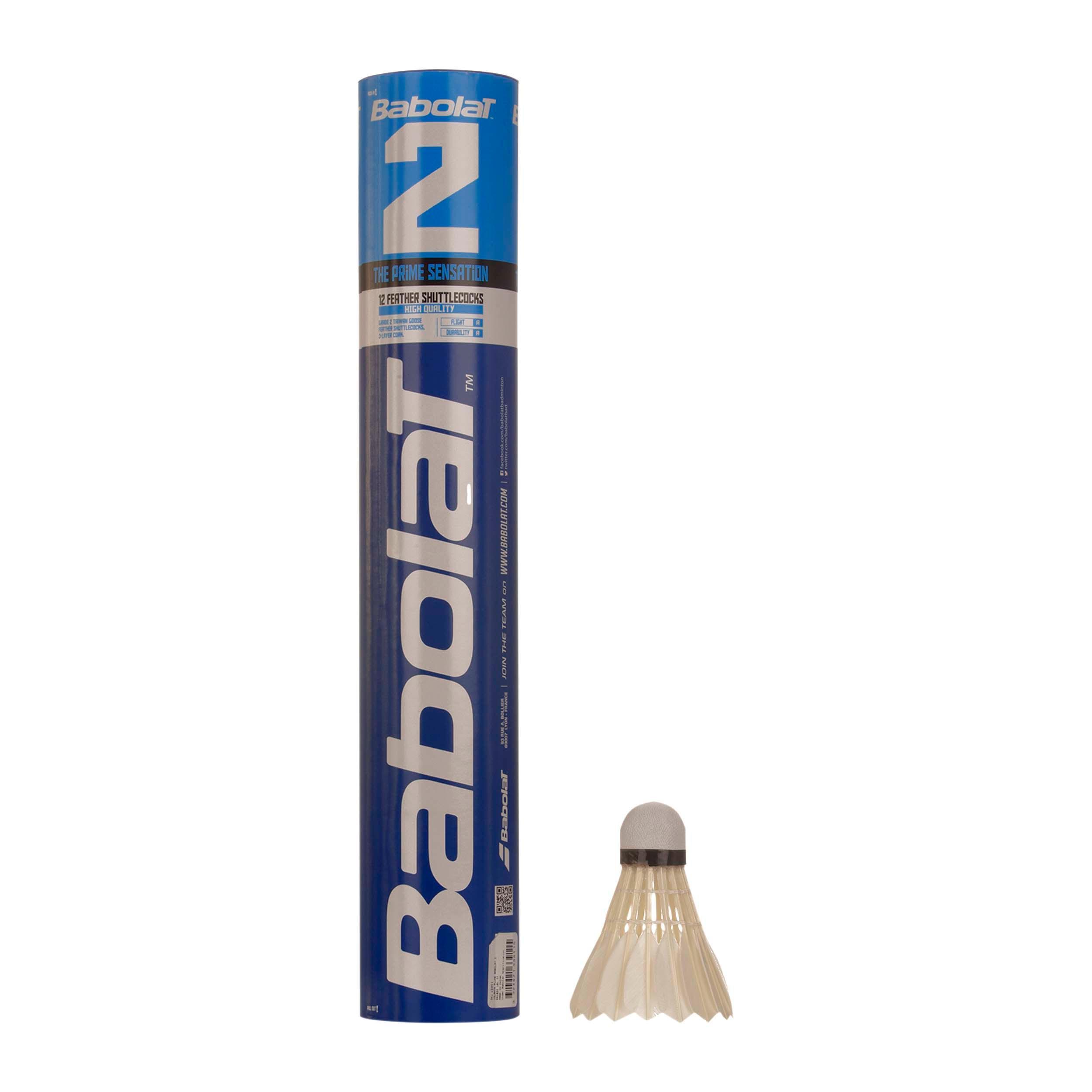 Babolat Badminton shuttle nr. 2, 12 stuks
