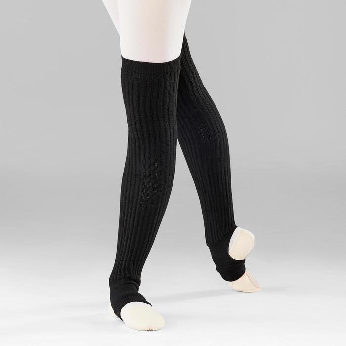 Beenwarmers over de knie voor ballet en moderne dans dames zwart