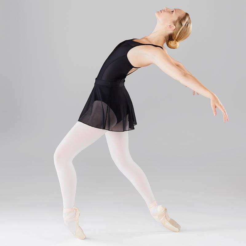 Falda Ballet Domyos Mujer Gasa Negra
