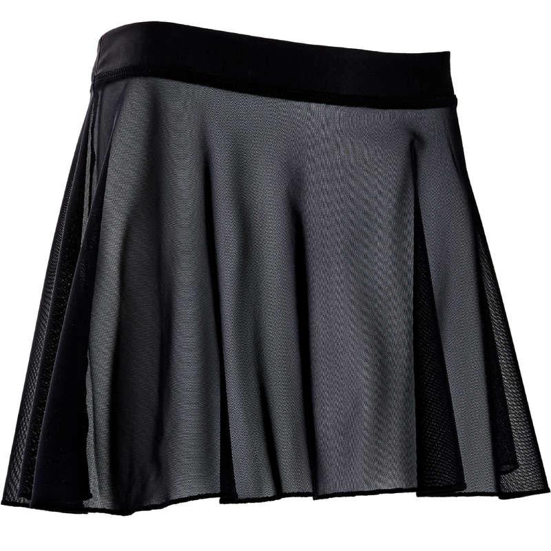 КУПАЛЬНИКИ, ОДЕЖДА ЖЕНСКАЯ / БАЛЕТ Летняя одежда и обувь - Юбка жен. черная DOMYOS - Летняя одежда и обувь