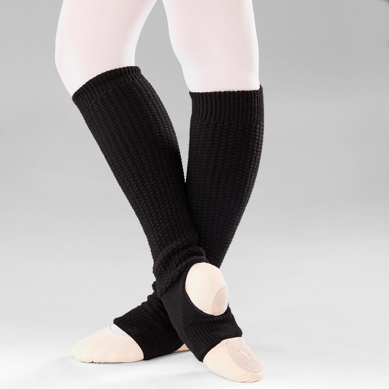 Calentadores Ballet Mujer Tobillo y Empeine Negro
