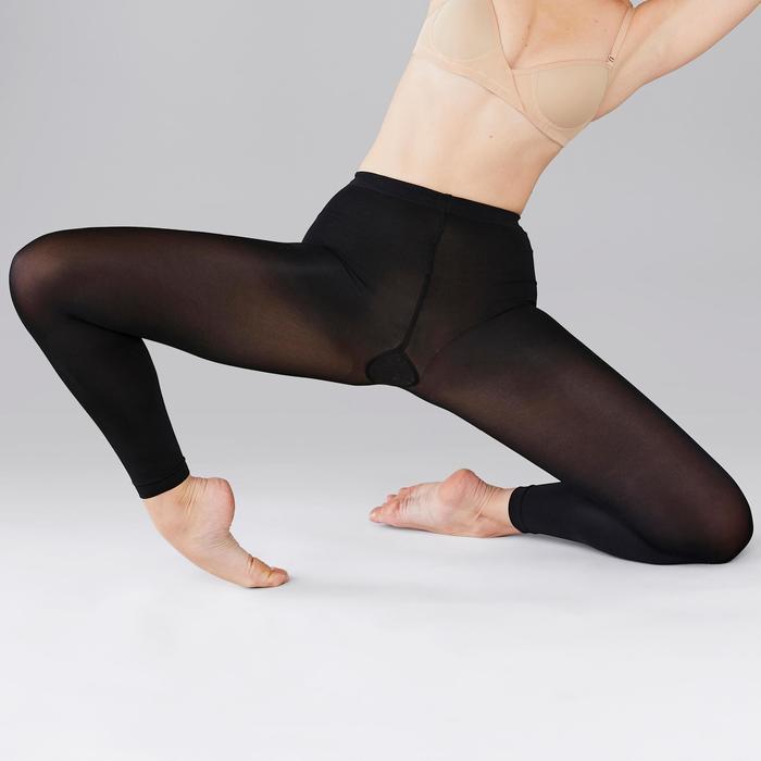 Medias Ballet Domyos Mujer Sin Pies Negras