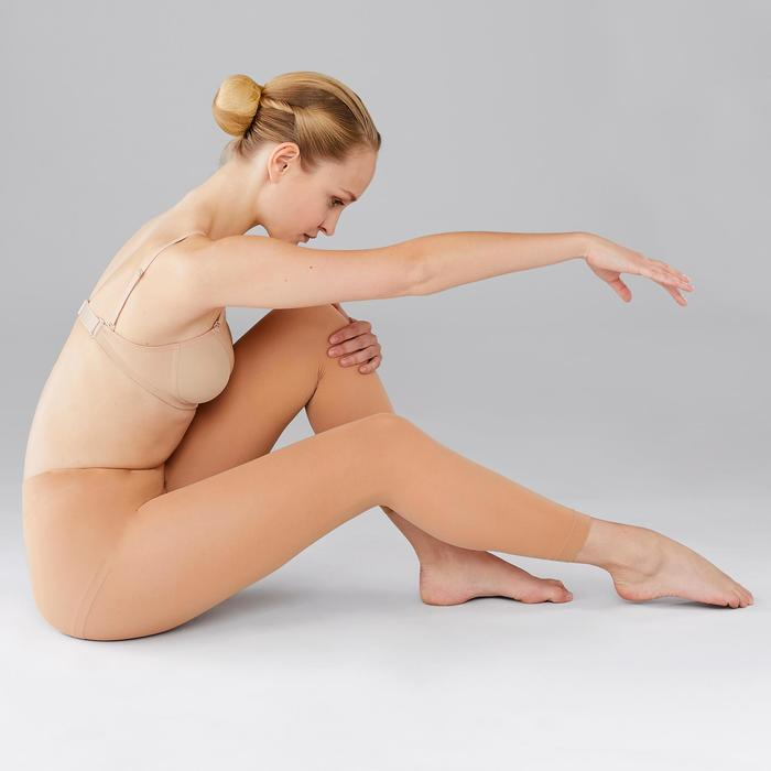 Maillot zonder voet voor ballet en moderne dans dames huidskleur