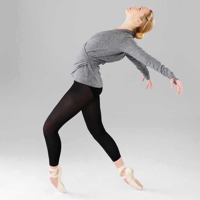 Cache-coeur de danse classique femme gris chiné