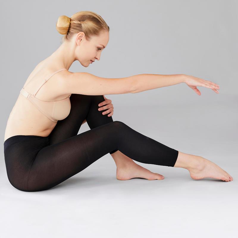Panties sin pies mujer negras