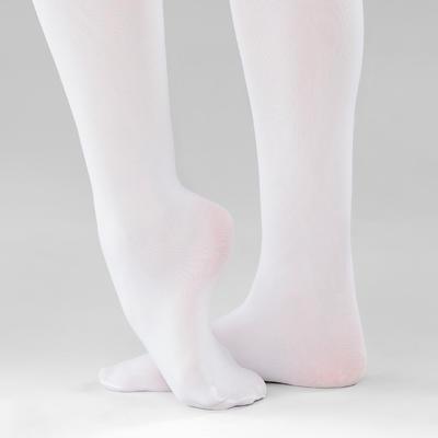 Collants de danse classique fille blancs