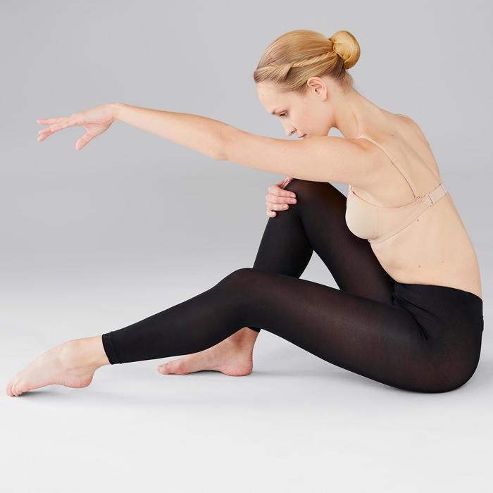 Maillot zonder voet voor ballet en moderne dans dames zwart