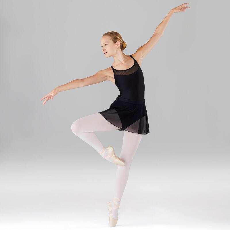 Maillot Ballet Tirantes Domyos Mujer Negro