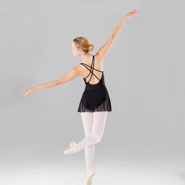 Justaucorps danse classique noir à bretelles croisées femme