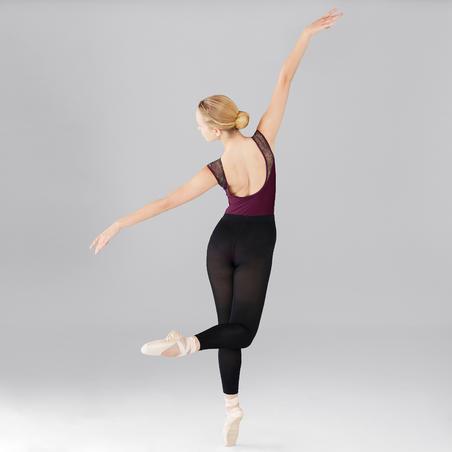 Mixed Media Short-sleeved Ballet Leotard - Women