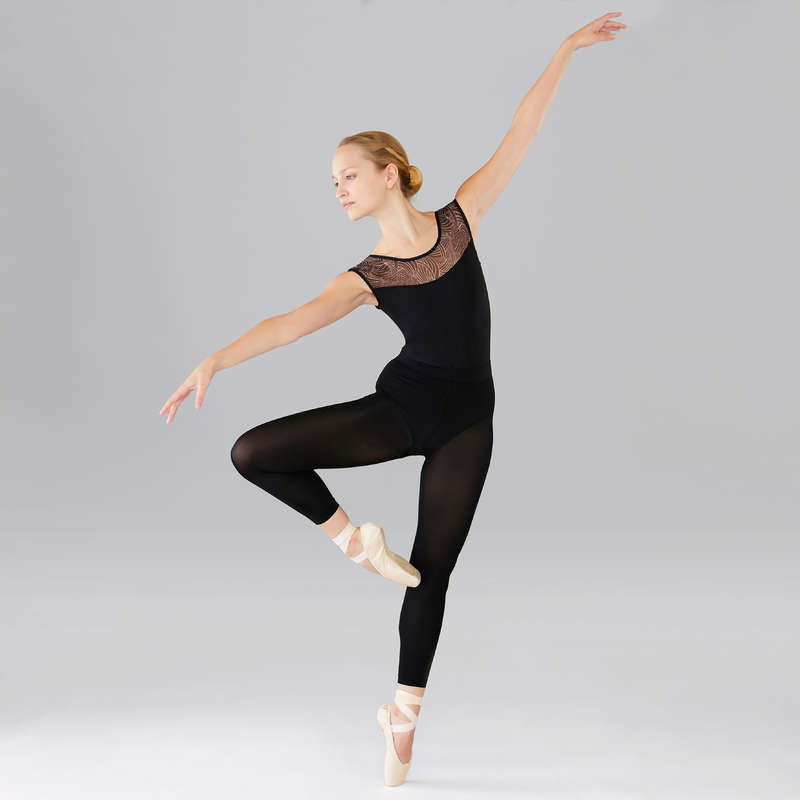 ROUPA DANÇA CLÁSSICA MULHER Dança - Maillot Manga Curta Menina DOMYOS - Ballet