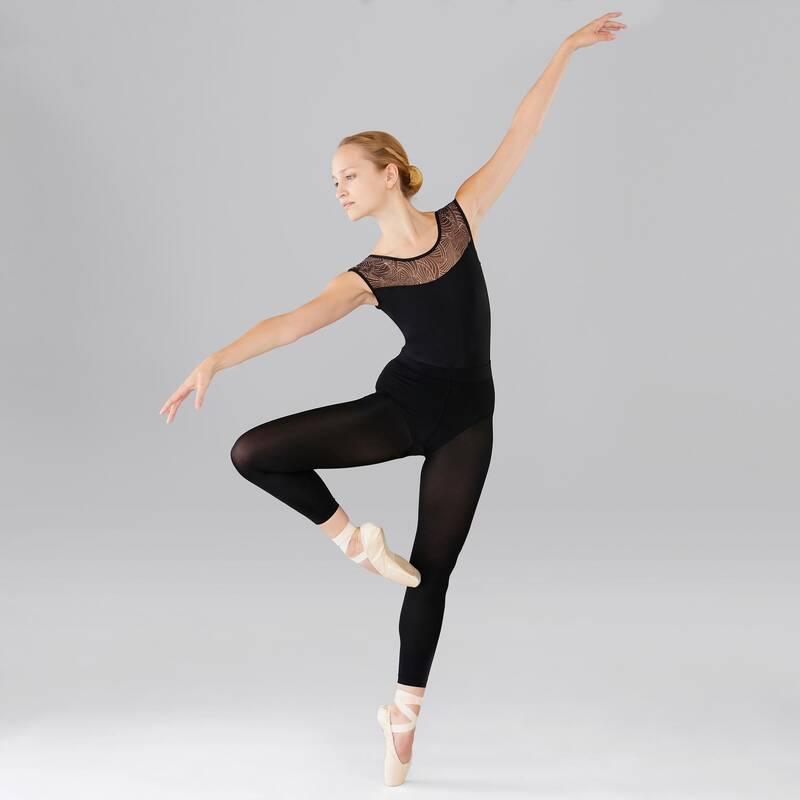 DÁMSKÉ TRIKOTY, OBLEČENÍ NA BALET Balet - BALETNÍ TRIKOT ČERNÝ DOMYOS - Balet