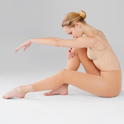 Collants sans pied de danse classique femme chair