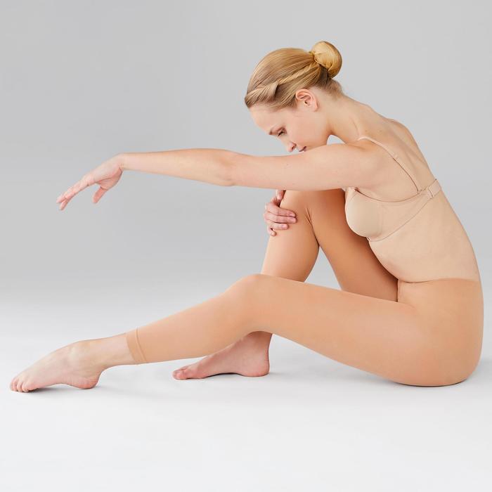 Medias Ballet Domyos Mujer Sin Pies Canela