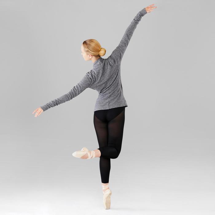 Cache-coeur voor ballet dames gemêleerd grijs
