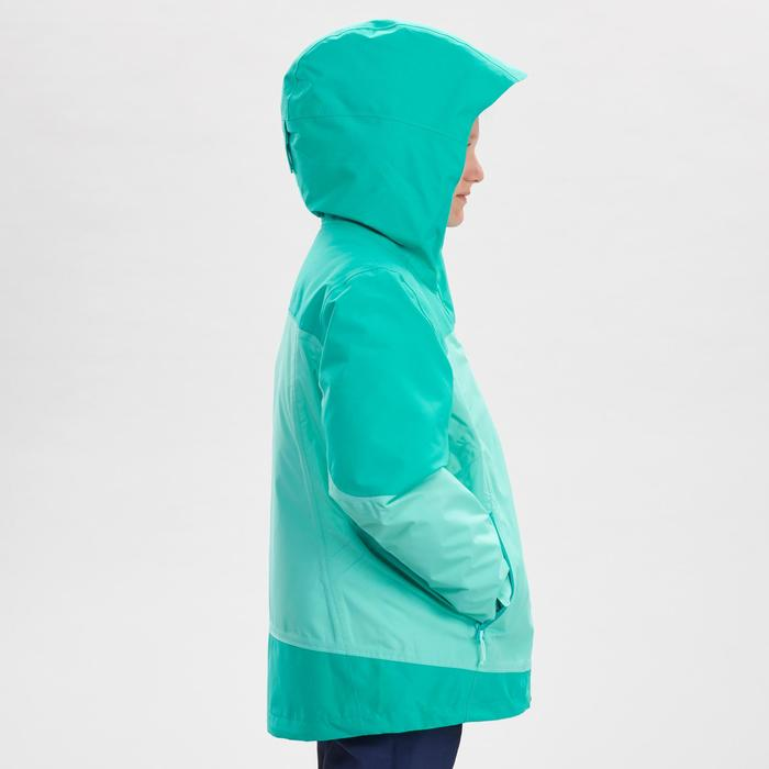 Girl's Warm Waterproof Snow Hiking Jacket SH500 X-Warm 3-in-1 Age 8-14
