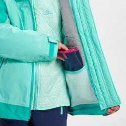 Warme 3-in-1 wandeljas voor de sneeuw meisjes SH500 X-Warm 8-14 jaar groen