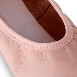 Demi-pointes danse classique cuir semelle entière rose tailles 25-40