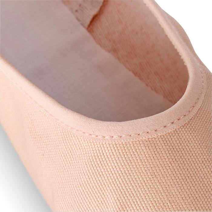 Canvas demi-pointes met hele zool stretch beige