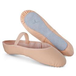 Zapatillas de Ballet Domyos Niña Suela Entera Tela Beige