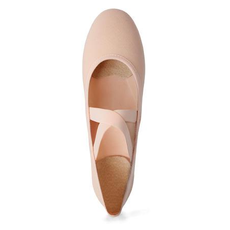 Split-Sole Stretch Canvas Demi-Pointe Shoes Sizes 7 to 8 - Salmon