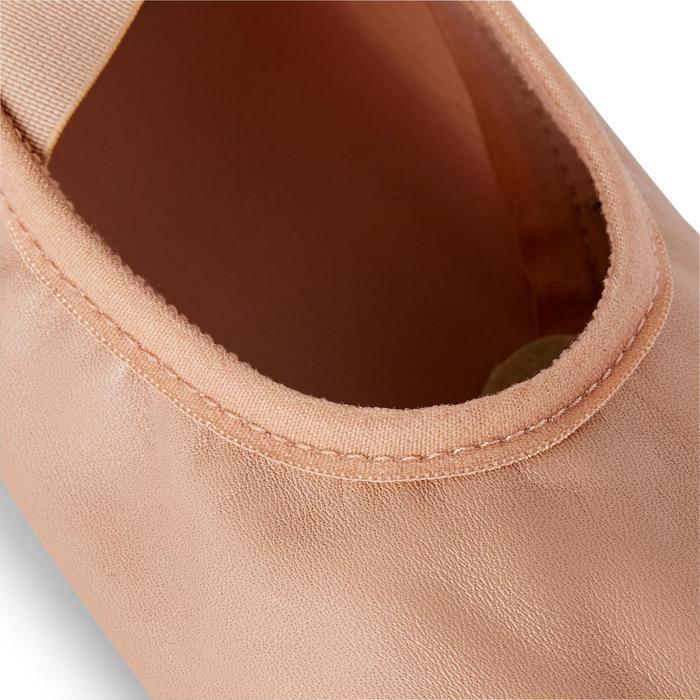 Demi-pointes bi-semelles cuir tailles 28-40