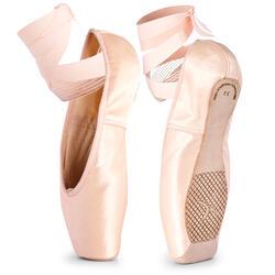 Puntas de danza clásica con suelas flexibles para iniciación tallas 33-42