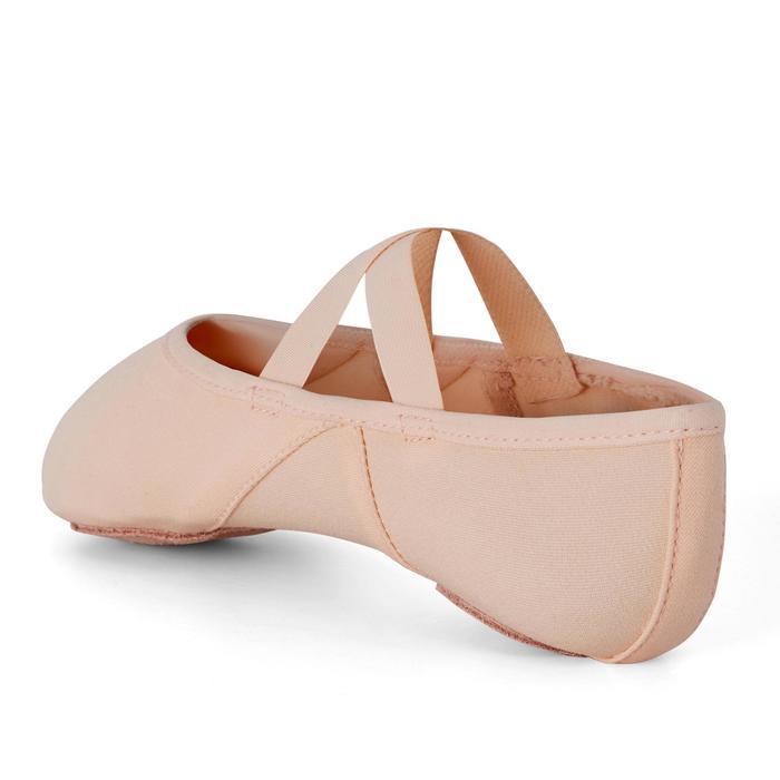 Demi-pointes voor ballet splitzool stretch canvas zalmroze maat 41-42