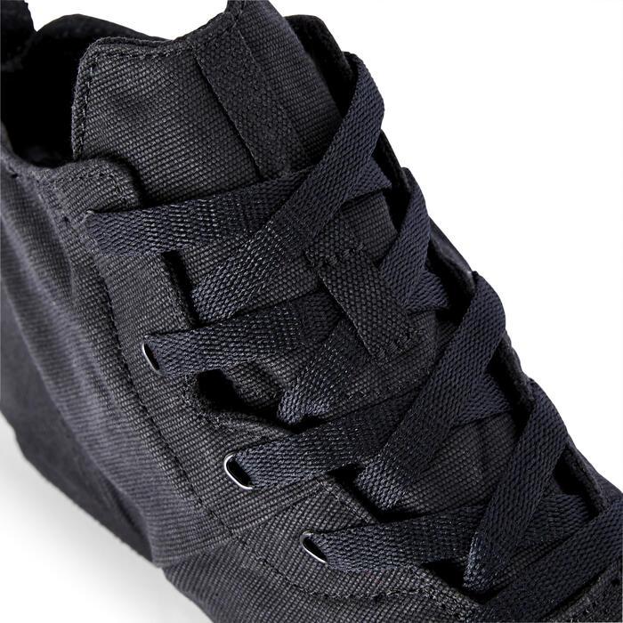 Canvas jazzschoenen zwart