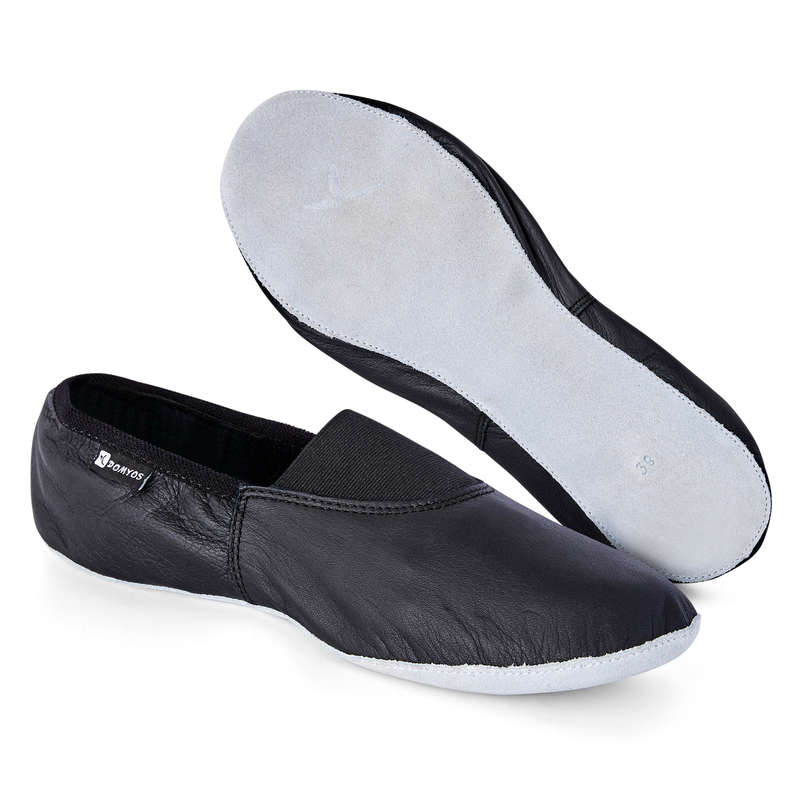 MODERN JAZZ DANCE SHOES Street Dance and Urban Dance - Flexible Leather Dance Shoes DOMYOS - Sports