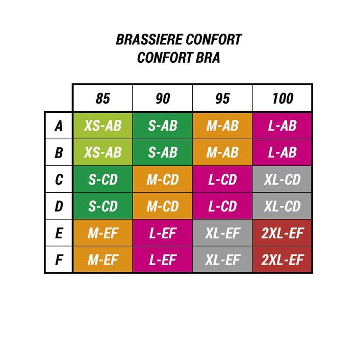 Sport-BH Bustier Komfort graumeliert