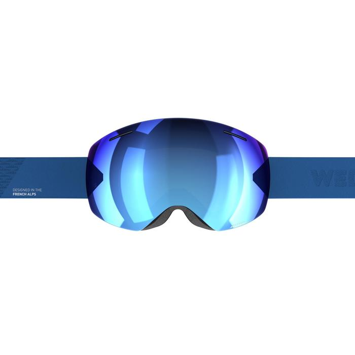CHILDREN'S & ADULT'S GOOD WEATHER SKIING &SNOWBOARDING GOGGLES G 520 - ASIA Blue