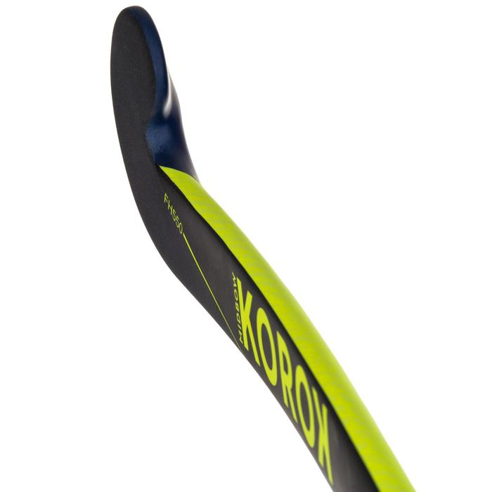 Stick Hockey Hierba Korok FH550 50% carbono adulto amarillo y azul