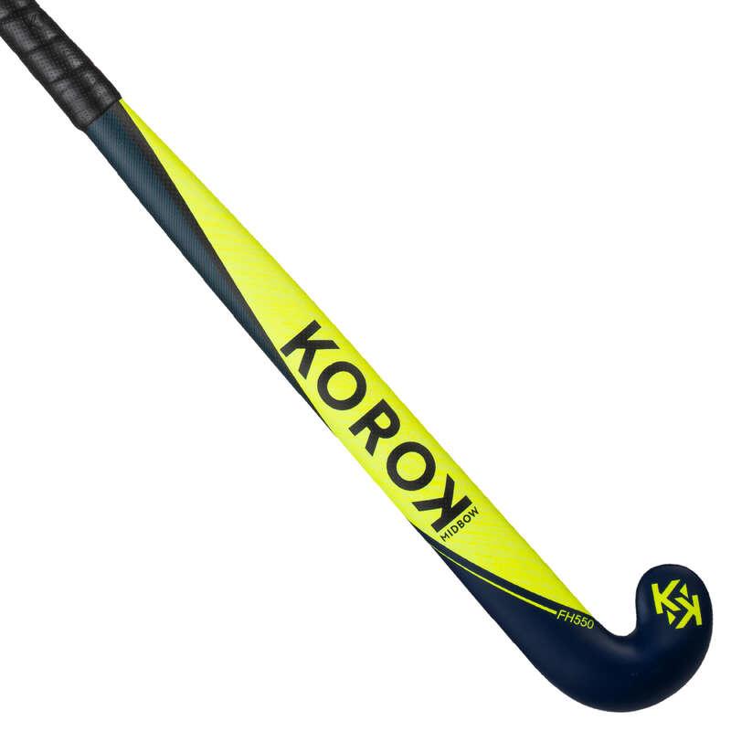 HOCKEY STICK Sport di squadra - Bastone hockey FH500 giallo KOROK - Hockey su prato