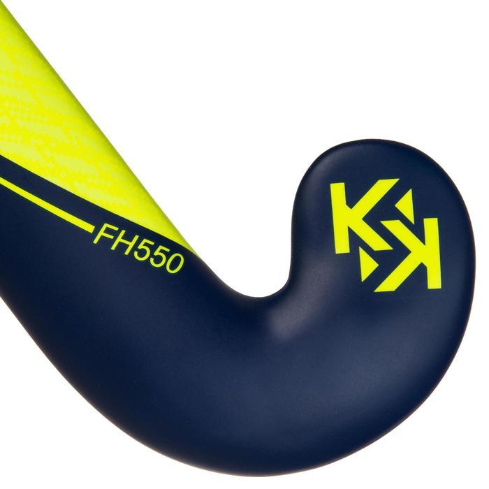 Feldhockeyschläger FH550 Erwachsene Mid Bow 50% Carbon gelb