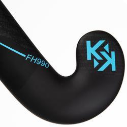 Feldhockeyschläger FH990 Erwachsene Low Bow 95% Carbon blau