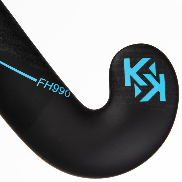 Hockeystick voor gevorderde volwassenen low bow 95% carbon FH990 blauw