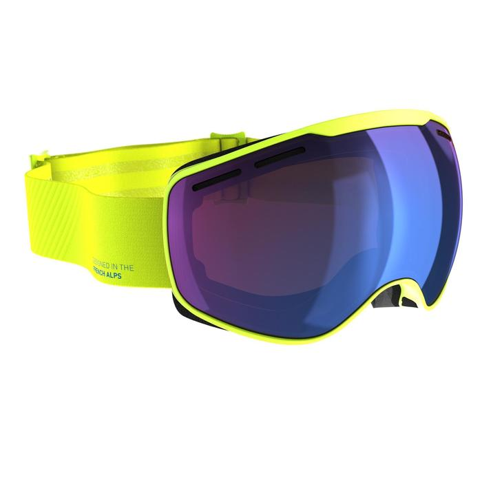 Ski- en snowboardbril voor kinderen en volwassenen G 540 mooi weer geel