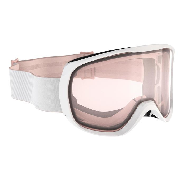 Ski- en snowboardbril voor dames en meisjes G500 slecht weer wit